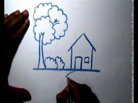 tutorial menggambar rumah adat video gambar mewarnai