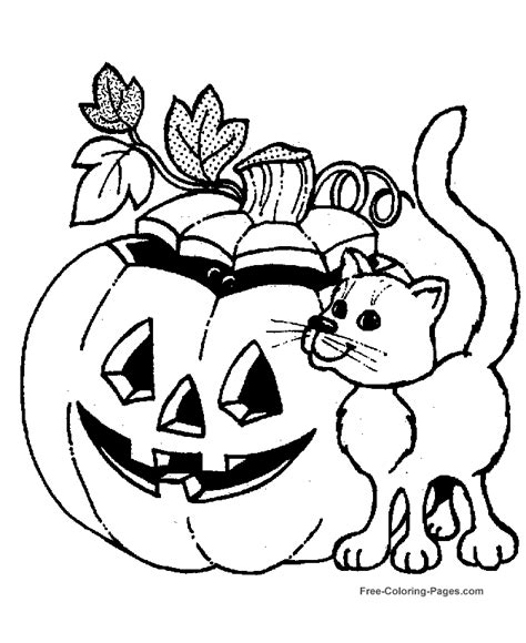 cute pumpkin coloring page cartoon jack o lantern az coloring pages