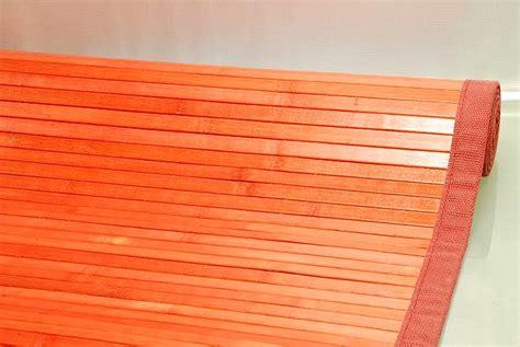 tappeti bambu tappeto bamb 217 60x240 cm rosso tinta unita