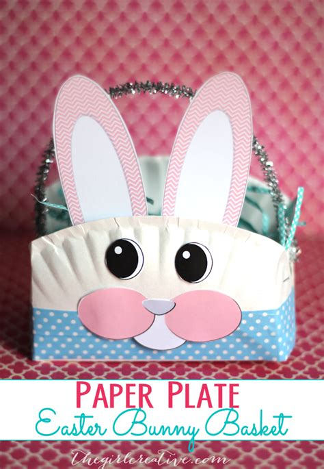 Easter Bunny Paper Plate Craft - paper plate easter bunny basket the creative