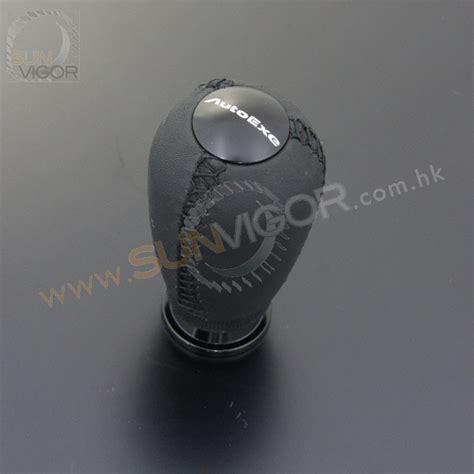 Autoexe Shift Knob by Sun Vigor Autoexe Leather Shift Knob With Black
