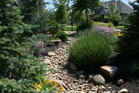 dry creek bed landscaping dry creek beds olathe kansas ks