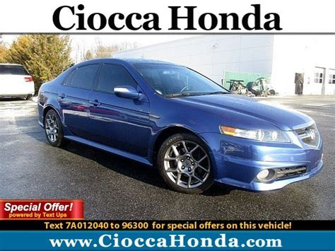 used acura tl 2007 used 2007 acura tl type s pricing for sale edmunds