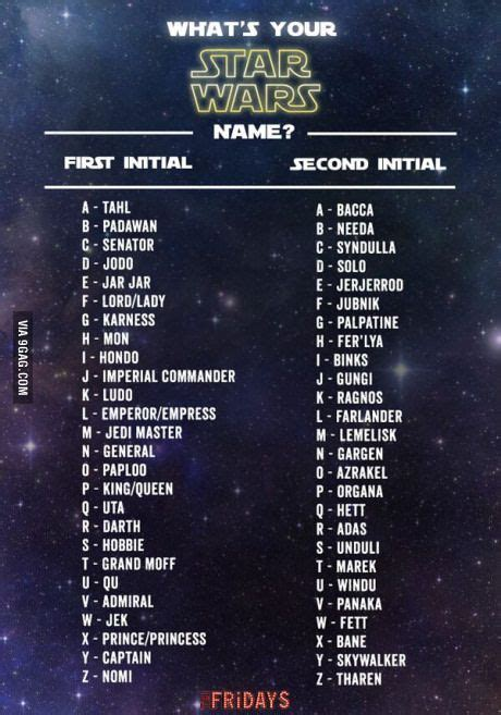 movie themes names what s your star wars name jars jokes and find name