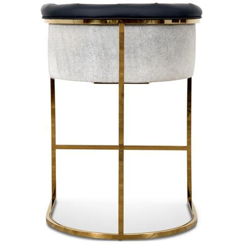 Faux Cowhide Counter Stools by Modern Curved Bar Stool Modshop Modshop