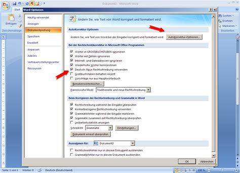 Word Vorlage C4 Mit Fenster Word Optionen Extras In Word 2010
