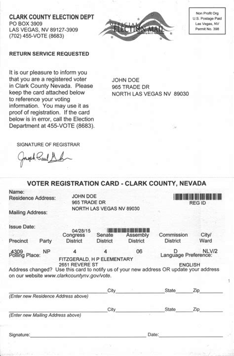 voter registration card template bill acceptable proof of residence calguns net