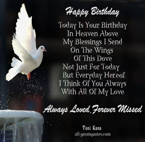 In Birthday Quotes Birthday Quotes For Husband In Heaven Image Quotes At