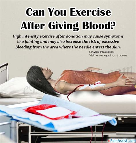 can you give blood if you have a tattoo can you exercise after giving blood