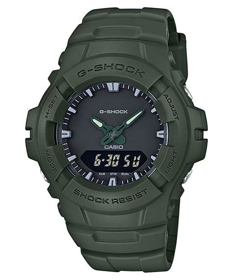 Jam Tangan Casio G Shock G 100cu 3ajf Original Garansi Resmi g 100cu 3a analog digital standar g shock penunjuk waktu casio