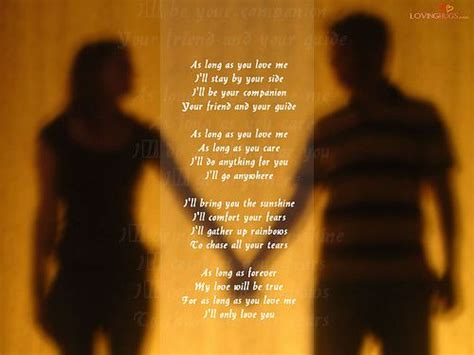 how to your to stay by your side as as you me i ll stay by your side i ll be your companion your friend and