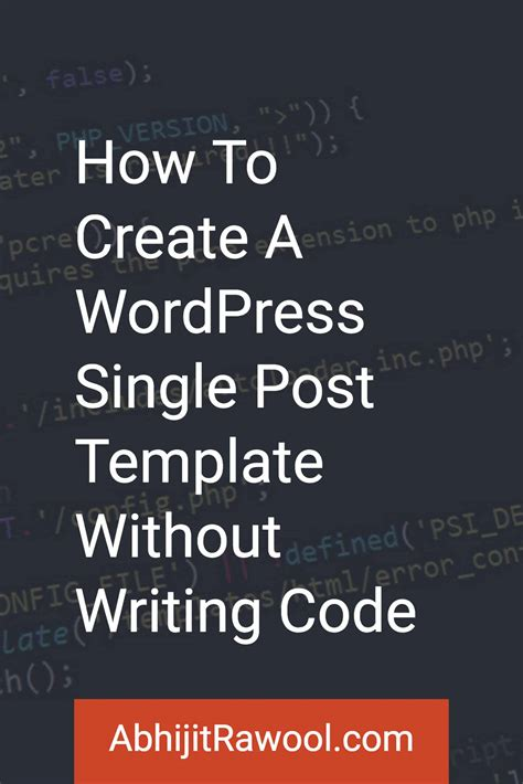 custom single post template how to create a single post template without