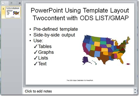ods layout exles adding text to your powerpoint output