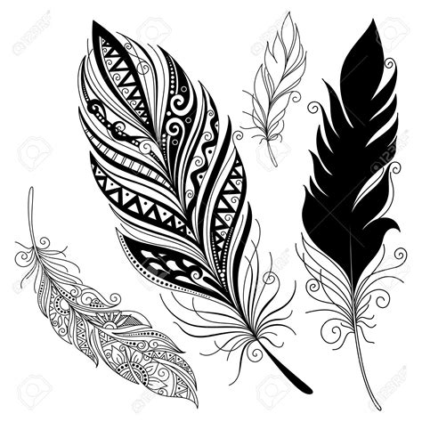 tribal pattern feather tribal feather design www imgkid com the image kid has it