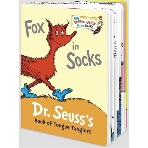 the foot book big bright early board book harvard book store fox in socks big bright and early board books abridged target