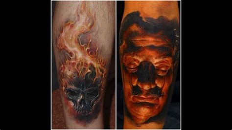 flaming skull tattoos realistic flames www pixshark images
