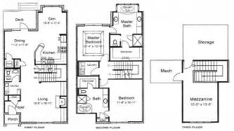 3 story home floor plans 3 bedroom house plans 3 story