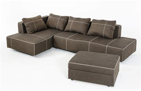 Camden Modern Fabric Sectional Sofa W Chaise