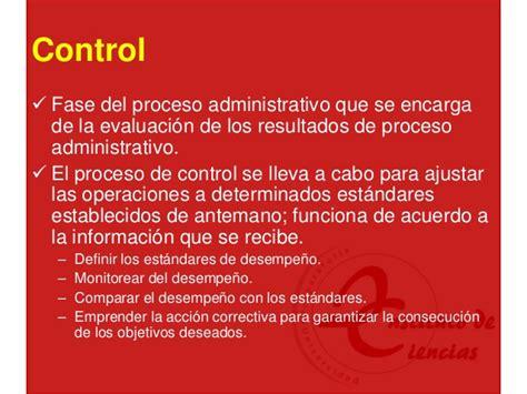 control administrativo fases proceso administrativo