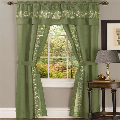 5 piece curtain sets achim sheer fairfield sage window curtain set 55 in w x