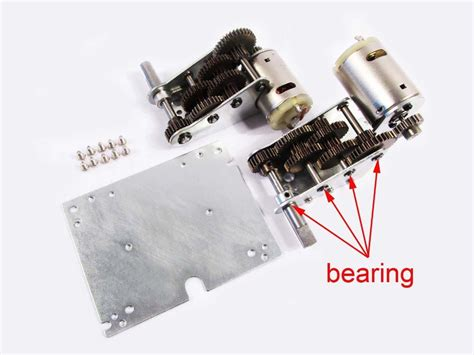 Mato 5 1 Steel Gearbox W Bearing mato metal upgrade 4 0 steel 5 1 gearbox with bearings for heng jagdpanther panther g