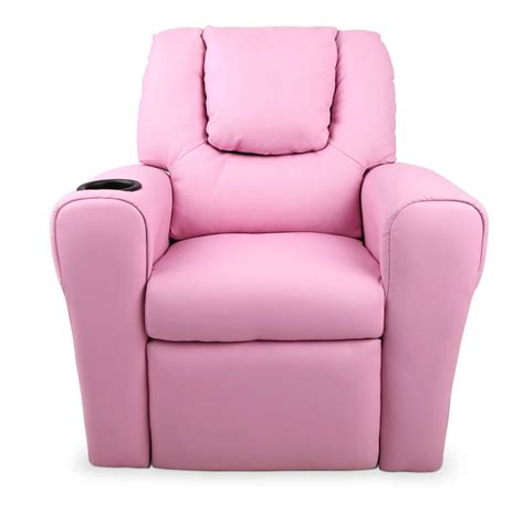 pink recliners 120 12 kids padded pu leather recliner chair pink