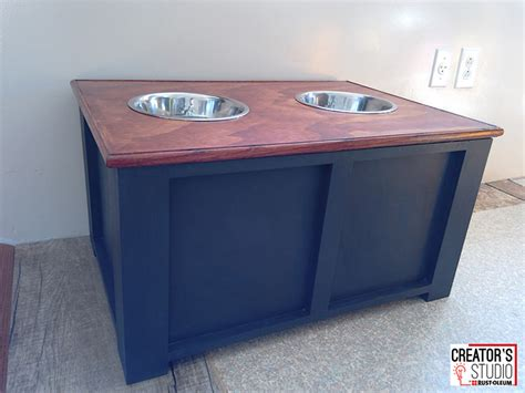 dog food storage cabinet diy dog feeding station rust oleum creator s studio