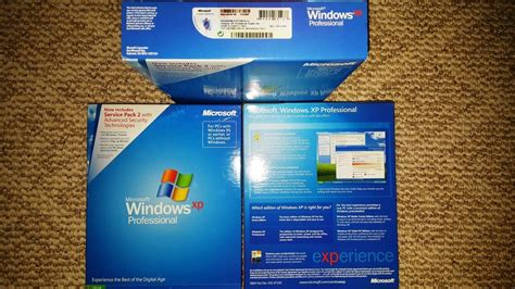 windows xp box microsoft windows xp professional with sp2 sku e85 02665