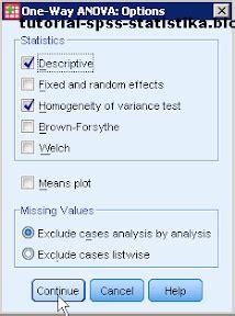 tutorial spss anova dua arah belajar spss dan statistika uji anova satu arah