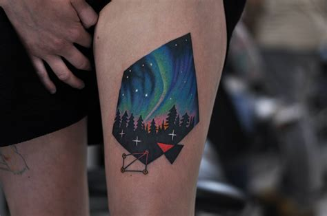 northern lights tattoo northern lights by david cote ink is