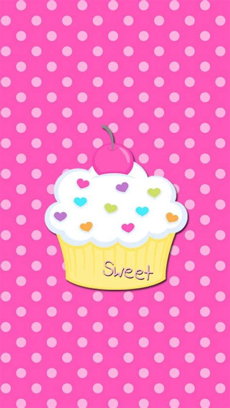 girly cupcake wallpaper wallpapers phones and cupcake on pinterest