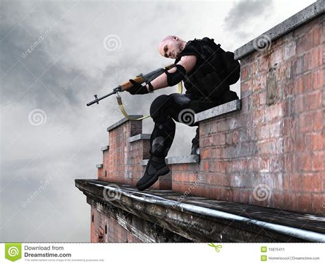 special forces army soldier sniper stock image image 15875411