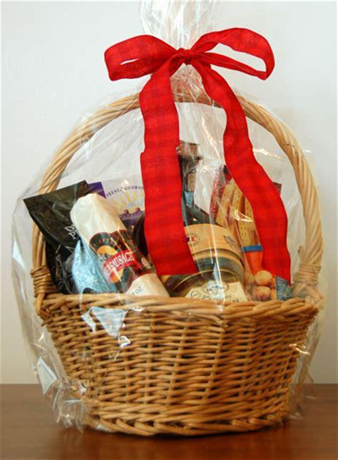Food Gift Baskets - wicker food gift basket photograph wicker food gift