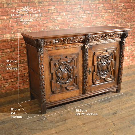 antike kredenz antique belgian sideboard carved oak cabinet 19th