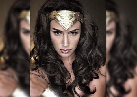 funfare hairstyle paolo ballesteros transforms into wonder woman