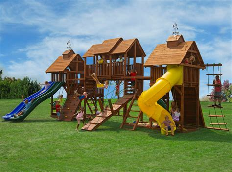 Kid Backyard Playground Set by Swing Sets Traditional Other Metro By