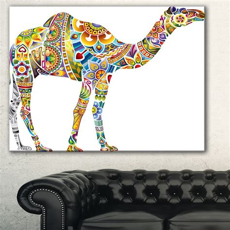 canva qa designart cheerful floral camel digital art canvas print