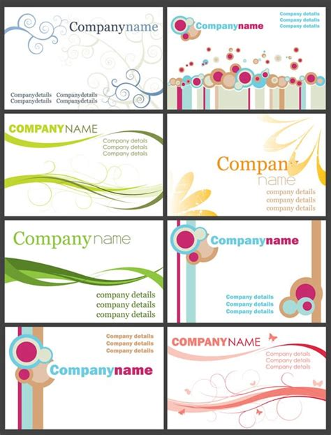 free layout design card business card design simple layout pattern butterfly