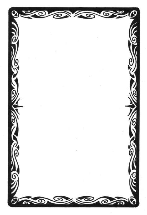 tarot card template frame tarot card tribal border by curvy tribal on deviantart