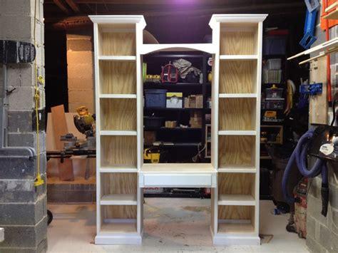 bookcase desk diy bookcase desk unit diy home projects furniture