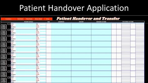 patient handover template patient handover application excel vba pc learning