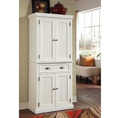 Beadboard Pantry by White Kitchen Pantry Bathroom Linen Cabinet Distressed