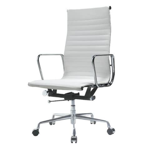 ribbed high back office chair ea119 eames style office chair high back ribbed white