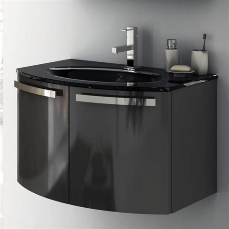 28 inch vanity cabinet with fitted sink contemporary