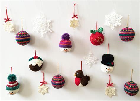 handmade crochet christmas decorations b l u e b e r r y