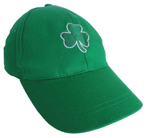 green shamrock baseball hat
