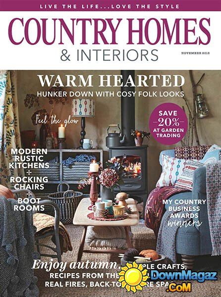 country home design magazines country homes interiors november 2016 187 download pdf