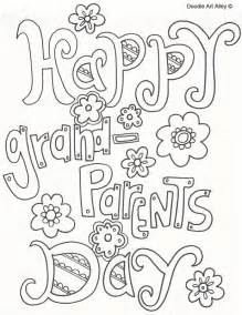 Coloring Pages For Grandparents grandparents day coloring pages doodle alley