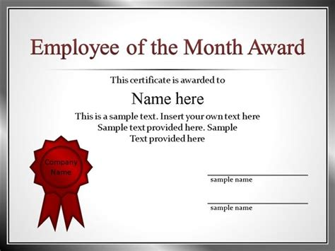 Employee Of The Month Powerpoint Template 53 employee recognition template powerpoint pptx