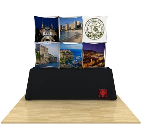 3d snap table top display 3x2 with table throw